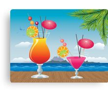 Cocktail on the beach 2 Canvas Print