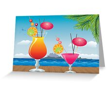 Cocktail on the beach 2 Greeting Card