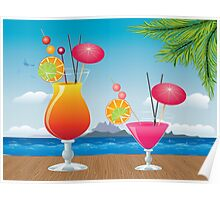 Cocktail on the beach 2 Poster