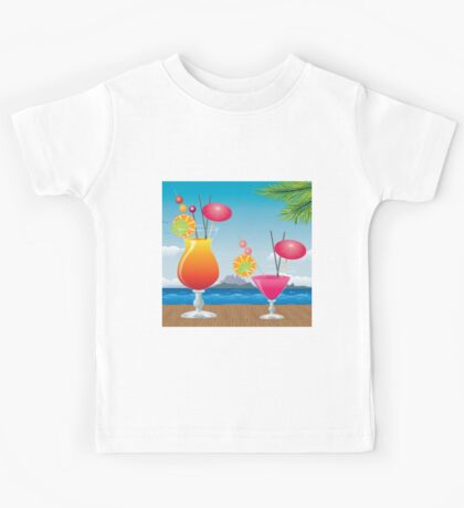 Cocktail on the beach 2 Kids Tee