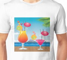 Cocktail on the beach 2 Unisex T-Shirt