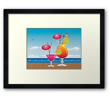 Cocktail on the beach 3 Framed Print