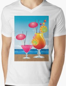 Cocktail on the beach 3 Mens V-Neck T-Shirt