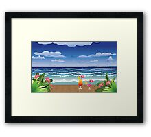 Cocktail on the beach 4 Framed Print