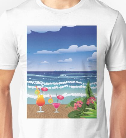 Cocktail on the beach 4 Unisex T-Shirt