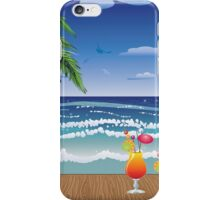 Cocktail on the beach 5 iPhone Case/Skin