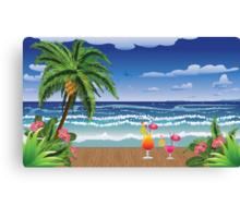 Cocktail on the beach 5 Canvas Print