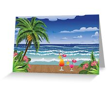 Cocktail on the beach 5 Greeting Card