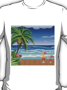 Cocktail on the beach 5 T-Shirt