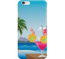 Cocktail on the beach 6 iPhone Case/Skin
