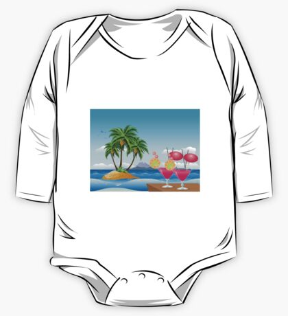 Cocktail on the beach 6 One Piece - Long Sleeve