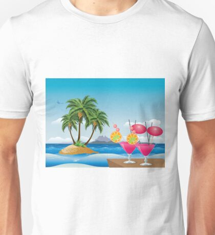Cocktail on the beach 6 Unisex T-Shirt