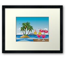 Cocktail on the beach 6 Framed Print