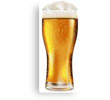 Beer glass with water drops Canvas Print