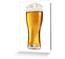 Beer glass with water drops Greeting Card