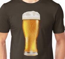 Beer glass with water drops Unisex T-Shirt