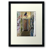 Down the Corridor, on the Way to My Place Framed Print