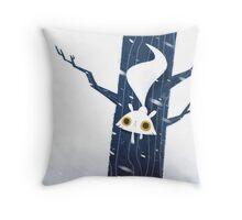White Squirrel Throw Pillow
