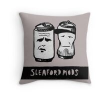 Sleaford Mods Beer Throw Pillow