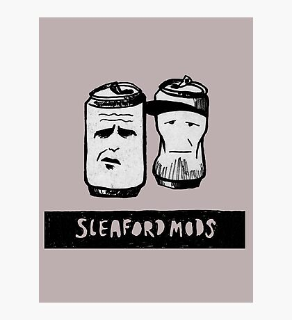 Sleaford Mods Beer Photographic Print
