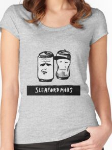 Sleaford Mods Beer Women's Fitted Scoop T-Shirt
