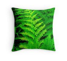 Wild Ferns Throw Pillow