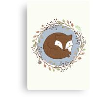 Dreaming Fox Canvas Print