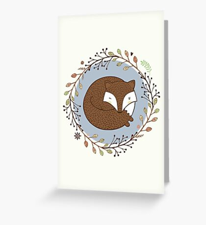 Dreaming Fox Greeting Card