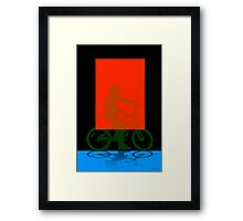 The red screen Framed Print