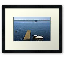 Little Boat By The Dock Framed Print