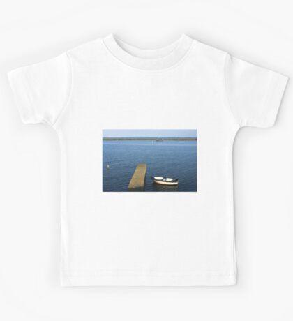 Little Boat By The Dock Kids Tee