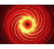 Candy Red Swirl Photographic Print