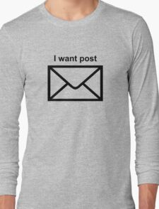 Modernity is so boring Long Sleeve T-Shirt