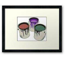 3 Paint Gallons Framed Print