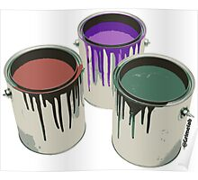 3 Paint Gallons Poster