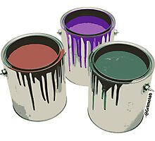 3 Paint Gallons Photographic Print
