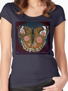 Spiral Butterfly I Women's Fitted Scoop T-Shirt