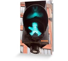 Ampelmännchen, Green Traffic Man, Berlin Greeting Card