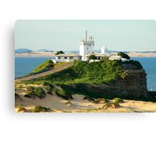 Newcastle Harbour - Nobby's Lighthouse Canvas Print