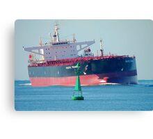Coal ship Newcastle Harbour - Pacific Triangle Canvas Print