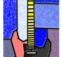 guitar glass 2 Sticker