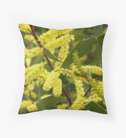 The Green & Gold Throw Pillow