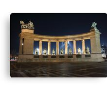 Heroes' Square at Night Canvas Print