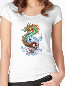 Dragon, Carp Women's Fitted Scoop T-Shirt