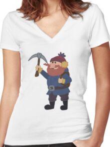 Yukon Cornelius Pattern Women's Fitted V-Neck T-Shirt