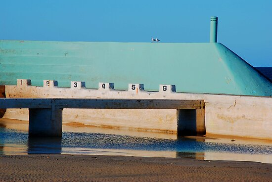 Can't Wait for Summer - Newcastle Ocean Baths by Bev Woodman