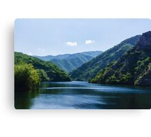 Summer Sunshine and a Gentle Breeze - Mountain Lake Impression Canvas Print