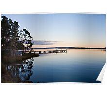 Sunset at Strahan, Tasmania Poster