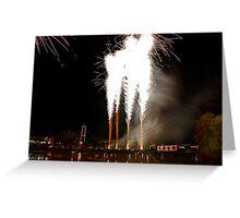 Exploding Bridge Greeting Card