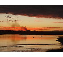 Raging Red Cane Fire Sunset Photographic Print